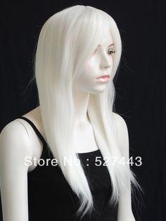 Groothandel gratis verzending>> 23.6in lange warmte medium rechte witte blonde gaga cosplay haar pruik in beschrijvingvoelt zeer als menselijk haar en hoofdhuid, ware- to- leven in elk detail;comfortabel voor dagelijks gebruik van cosplay pruiken op AliExpress.com | Alibaba Groep