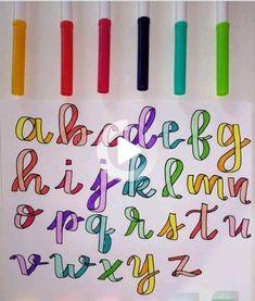 Journal Fonts, Bullet Journal Lettering Ideas, Bullet Journal Ideas Pages, Bullet Journal Inspiration, Hand Lettering Alphabet, Doodle Lettering, Creative Lettering, Doodle Fonts, Graffiti Alphabet
