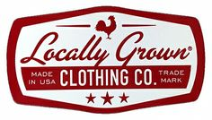 Badge Sticker Red - Locally Grown Clothing Co. $3