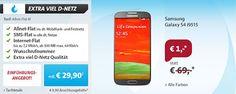 500 MB Telekom Allnet Flat mit Galaxy S4 für 29,90€ im Monat http://www.simdealz.de/telekom/sparhandy-allnet-flat-l-mit-smartphone/