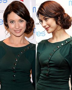 Worn wavy and swept to the side, Olga Kurylenko's classic chignon gets a modern upgrade.