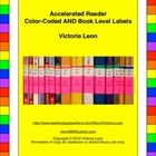 Accelerated Reader Color-Coded AND Book Level Labels - Use Avery labels to color-code AND display the book level and points on the spines of your Accelerated Reader classroom library books, book sets, and school library books.  Having students see the actual book level on the colored label is better than just seeing colored dots.  http://www.teacherspayteachers.com/Product/Accelerated-Reader-Color-Coded-AND-Book-Level-Labels