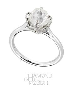 One of the newest additions to our Signature Collection is this 1.73ct rough diamond ring.
