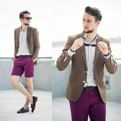How men can wear purple..