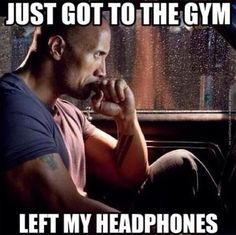 LOL. We've all been there!! #gym #motivation #workout #neverforgettheheadphones