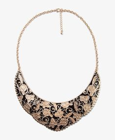 ShopStyle: Forever 21Lacquered Floral Chain Necklace