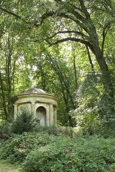 The Désert de Retz is a ruined French garden in Chambourcy, France - the Temple of Pan folly.