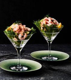 Katkarapucocktail | Kala, Juhli ja nauti, Alkuruuat | Soppa365 Ricotta, Tableware, Pai, Dinnerware, Tablewares, Dishes, Place Settings