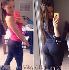 Squats Before & After - Buzzfits 30 Days Booty Challenge! Try it! (the price went down from 15$ to pay-what-you-want during the holidays). The challenge starts January 4th so hurry up ;)