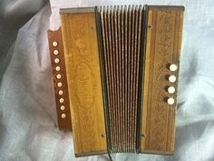 50's Vintage Hohner Accordion  German melodeon  by TroppoBella