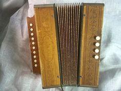 50's Vintage Hohner Accordion  German melodeon  by TroppoBella