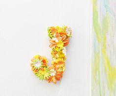 Personalised Floral Letter. #DIY&Crafts#Trusper#Tip