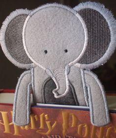 Bookmark  Animal  Elephant   Felt Book Mark  by HandmadeBits4u