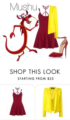 """Mushu"" by indianna28-2002 on Polyvore featuring Alexandre Vauthier and Christian Louboutin"