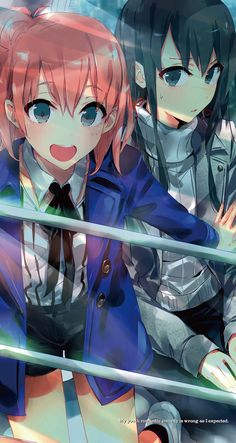 grafika anime, oregairu, and yukino yukinoshita Yuri Anime, Manga Anime, Anime Art, Fanarts Anime, Anime Characters, Yukino Fairy Tail, Neko Maid, Yahari Ore No Seishun, Pokemon