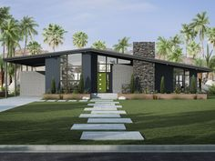 Mid-century house, CGI by PIX-US.