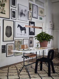 Un appartement-concept store Inspiration Wand, Interior Inspiration, Moodboard Inspiration, Inspiration Boards, Style Inspiration, Home Office Design, House Design, Sweet Home, Wall Decor