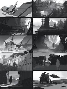 Morning Sketches Art Dump, Jono Coy on ArtStation at https://www.artstation.com/artwork/1RoDe