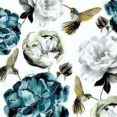 Hummingbirds & Hydrangea By Sally Scaffardi.