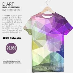 #abstract #colorful #art #modern #triangles #polygons #geometry #lines #mesh #grid #stylish #crystals #tshirt #unisex #liveheroes #liveheroesshop #digitalartcreations