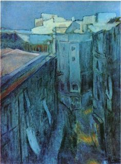 Dawn at Riera de Sant Joan. 1903. Blue Period. oil on canvas - Pablo Picasso - WikiArt.org