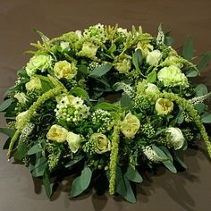 White Flower Arrangements, Funeral Flower Arrangements, Funeral Flowers, Wedding Flowers, Floral Bouquets, Floral Wreath, Funeral Tributes, Memorial Flowers, Sympathy Flowers
