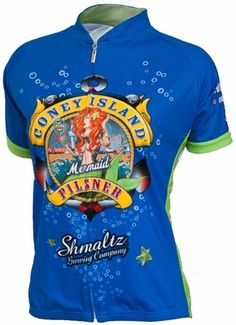 745874604 Coney Island Mermaid Pilsner Women s Cycling Jersey by Retro
