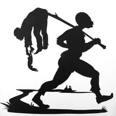 Kara Walker Title of Work: Untitled Medium: Paper on canvas Year: 1994 Dimensions: x (d) Photo Line: Courtesy ., Kara Walker, (b Kara Walker, Walker Art, African American Artist, American Artists, African Art, Kara Young, Baseball Painting, Symbolic Art, Art Articles
