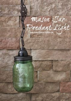 How to make a mason jar pendant light! Includes a few options for the easiest way, the cheapest way, and the way NOT to do it..