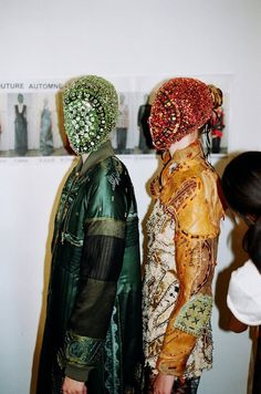 Backstage at Maison Martin Margiela's 'Artisanal' Haute Couture Autumn-Winter 2012 fashion show. ©Tyrone Lebon