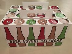 Count Down to Christmas with a Beer Advent Calendar — Food News...will try this with some other items rather than beer/alcohol.