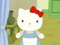 Lil Weezy, Hello Kitty Cartoon, Cat Gif, Kitty Gif, Cute Memes, Little Twin Stars, Moriarty, Animation Series, Sanrio