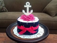 Nautical Girl Sailing Baby Shower Centerpiece Diaper Cakes other colors and sizes too on Etsy, $12.00