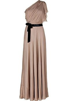 One Shoulder Silk Gown