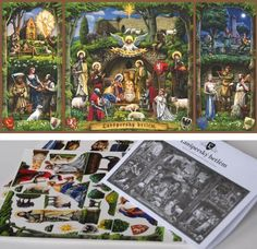 Created by Czech artist Adolf Lachman , this really beautiful Nativity Scene  is a commercial model,  but in the website there are templat...