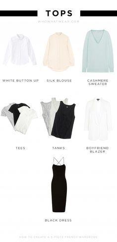 5 piece french wardrobe - erscheint mir besser geeignet als eine richtige Capsule Wardrobe