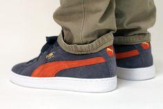 #Puma Suede Grey Orange