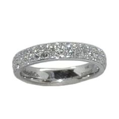0.75 cttw. Diamond Band https://www.goldinart.com/shop/rings/diamond-bands/0-75-cttw-diamond-band-2 #14KaratWhiteGold, #DiamondBands