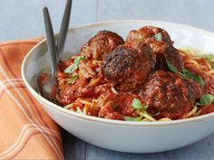 """MEATBALL MADNESS: ~ A PHOTO-GALARY OF (25) OF OUR BEST MEATBALL RECIPES: ~ From: """"COOKING CHANNEL.COM"""" ~ Recipes Courtesy Of: Well known Chef's and Cooks. *** Whether they're served on top of spaghetti, stuffed into heroes or eaten alone in bright tomato sauce, these traditional balls of meat and amped-up varieties are inherently comforting."""