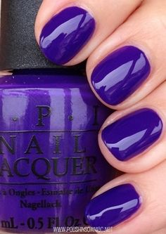 OPI - Do You Have This Color in Stock-holm? (this perfect color may get me to return to OPI) Opi Nail Polish, Opi Nails, Nail Polish Colors, Nail Polishes, Purple Nail Polish, Blue Nail, Colorful Nail Designs, Nail Art Designs, Trendy Nails