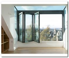 Why not have a glass box which feels like a balcony when open I'm having this in. Why not have a glass box which feels like a balcony when open I'm having this in my loft studio w Attic Loft, Loft Room, Bedroom Loft, Attic Office, Attic House, Attic Library, Attic Ladder, Attic Apartment, Attic Rooms