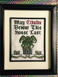 Cross Stitch I made for a friend as a house warming present. Pattern found on Etsy.