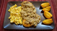 Vegetarian Biscuits and Cauliflower Gravy recipe by Terry Majamaki http://majamaki.com/2013/07/vegetarian-biscuits-and-cauliflower-gravy/