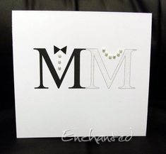 "Clever idea.  The ""M"" for Mrs is covered in white glitter  simplylessismoore.blogspot.com"
