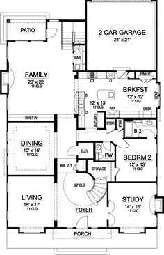 Luxury Style House Plans - 5131 Square Foot Home, 2 Story, 5 Bedroom and 5 3 Bath, 2 Garage Stalls by Monster House Plans - Plan 63-209 no dining room walls