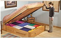 This is add height for under bed storage and also a great way to provide easy access to the stuff stored