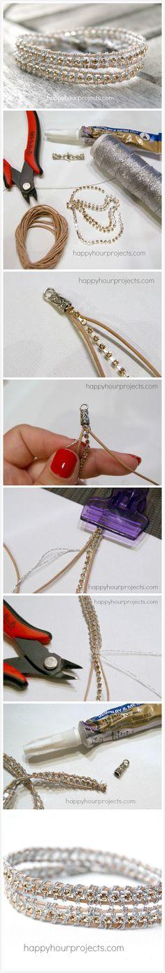 Rhinestone Wrap Bracelet - Faveed