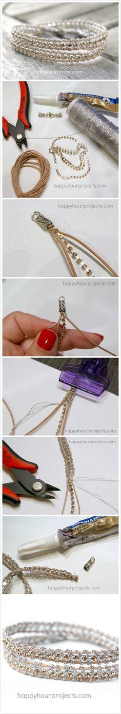 Rhinestone Wrap Bracelet - Faveed - Gonna give this one a try.