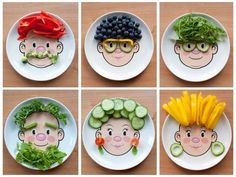 Making eating fruit and veg fun like this can help children build a positive relationship with food--make one for Colton Healthy Food Habits, Healthy Meals For Kids, Kids Meals, Healthy Snacks, Healthy Recipes, Eat Healthy, Eat Fruit, Fruit And Veg, Fresh Fruit