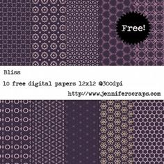 Bliss - Free Digital Paper Pack